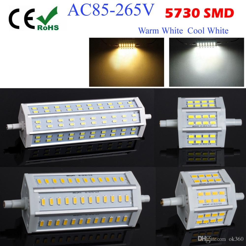 2015 Dimmable 10w 15w 18w 20w 78mm 118mm 135mm 189mm Smd5730 Corn Bulbs Ww Cw Aluminum R7s Led Light Bulb Replace Replace Haloge Led Light Bulb Bulb Light Bulb