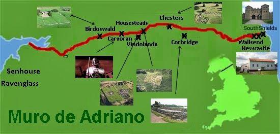 Muro De Adriano Mapa.Muro De Adriano Patrimonio De La Humanidad Pilar Monreal
