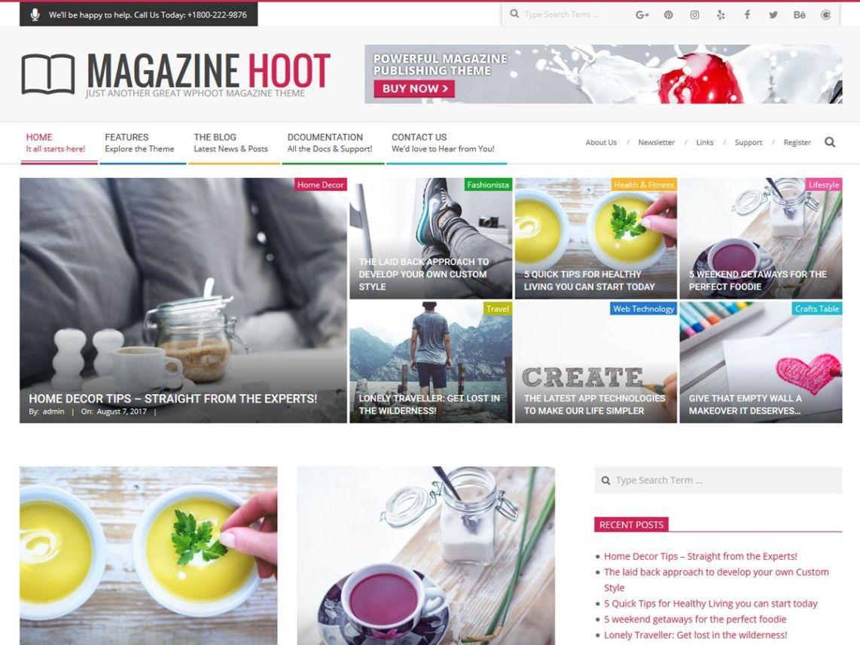Magazine Hoot – Tema Magazine WordPress Gratis | Blog - Magazine ...
