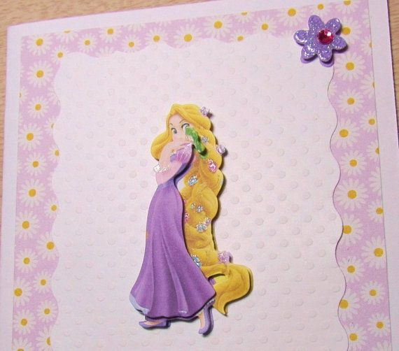 3d rapunzel birthday card personalized disney princess birthday 3d rapunzel birthday card personalized disney princess birthday handmade card designsbyalia on bookmarktalkfo Image collections