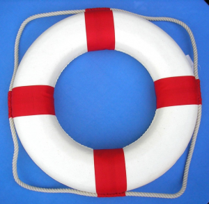 nautical life preservers red