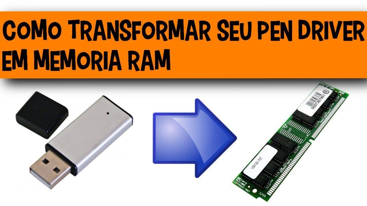 Como aumentar a memoria ram usando um pen drive pen