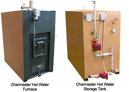 Charmaster Hot Water Furnace and Storage Tank | Woodstoves ...