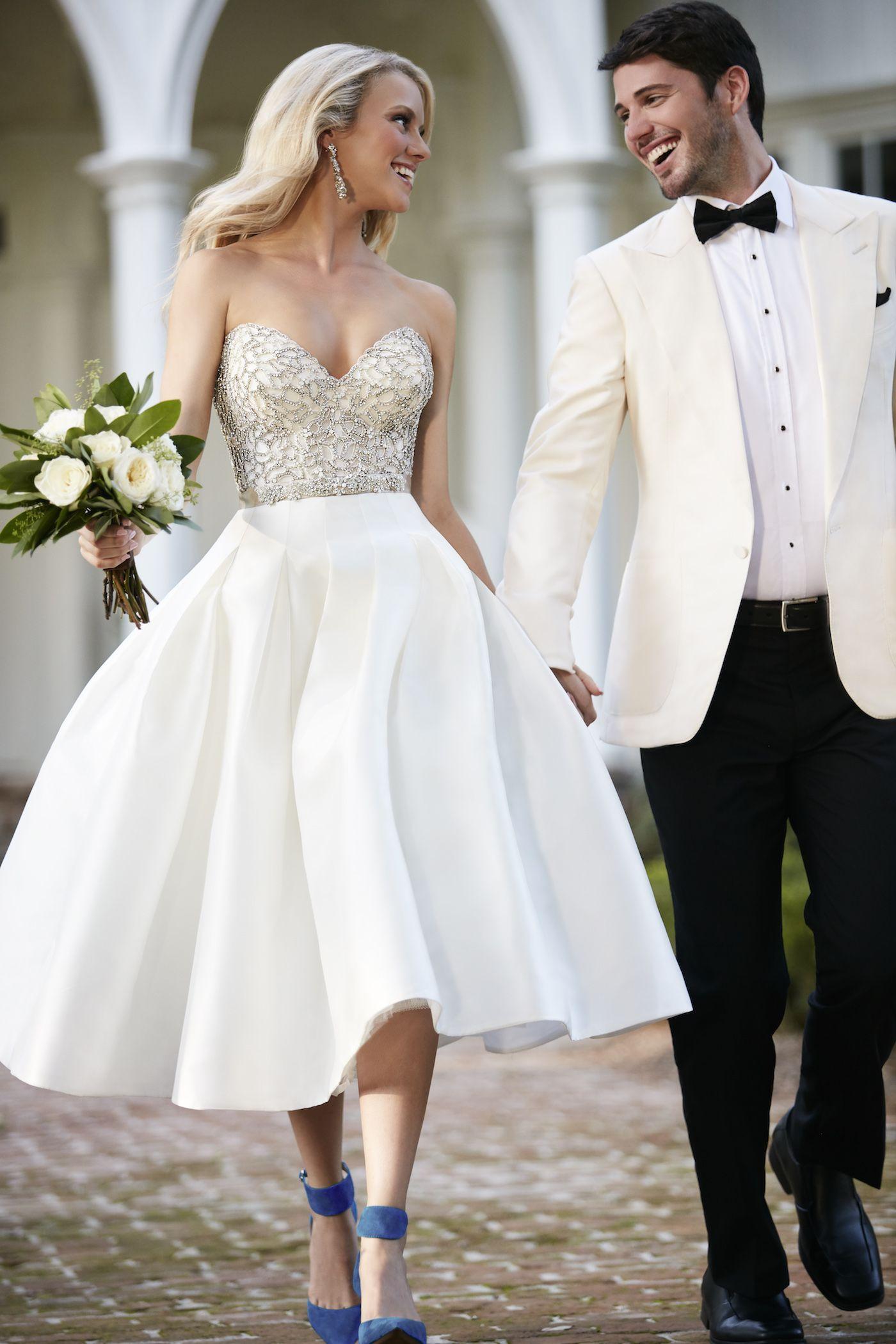 Martina Liana Two Pieces Wedding Dress Seperates Wedding Reception Dress Tea Length Wedding Dress [ 2100 x 1400 Pixel ]