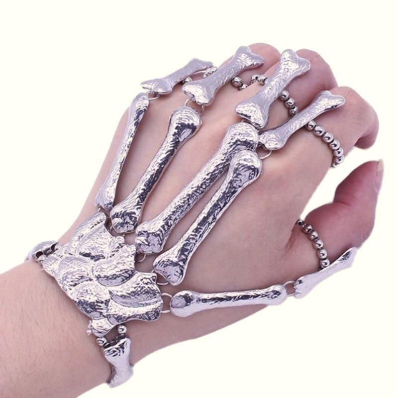 Hand Skeleton Finger Bracelet Com Imagens Pulseira De Mao