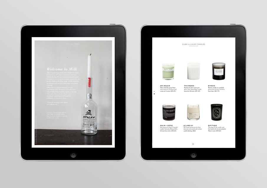 Milk iPad Magazine - Natasha Mead—Graphic & Webdesign