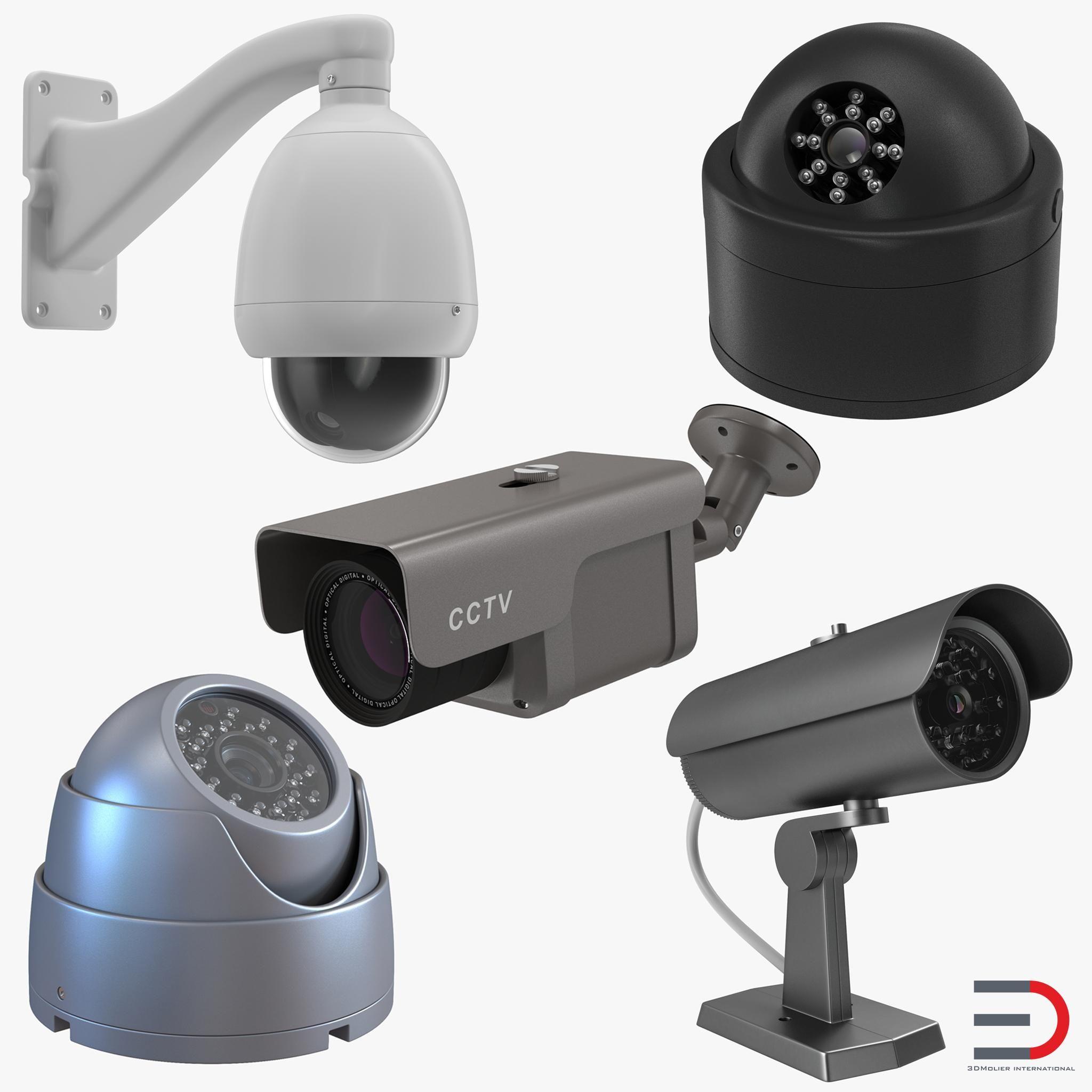 Cctv Cameras Collection 3d Model Ad Cameras Cctv Model Collection Cctv Camera Home Safety Tips Burglar