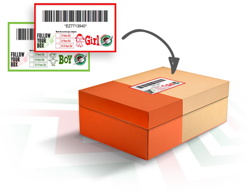 Follow Your Box Tracking Labels | Operation christmas child, Child ...