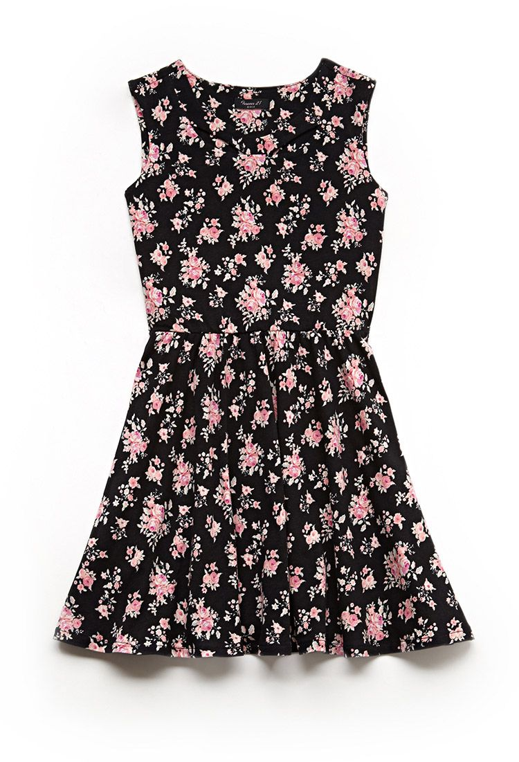 Floral knit dress kids fgirls summer pinterest floral