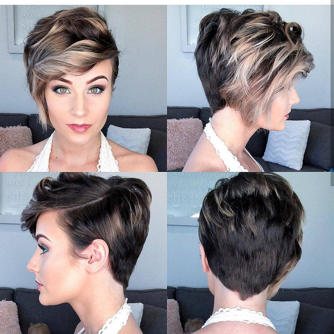 Easy Everyday Hairstyle For Short Hair Women Pixie Haircut Ideas Latest Short Hairstyles Womens Hairstyles Thick Hair Styles