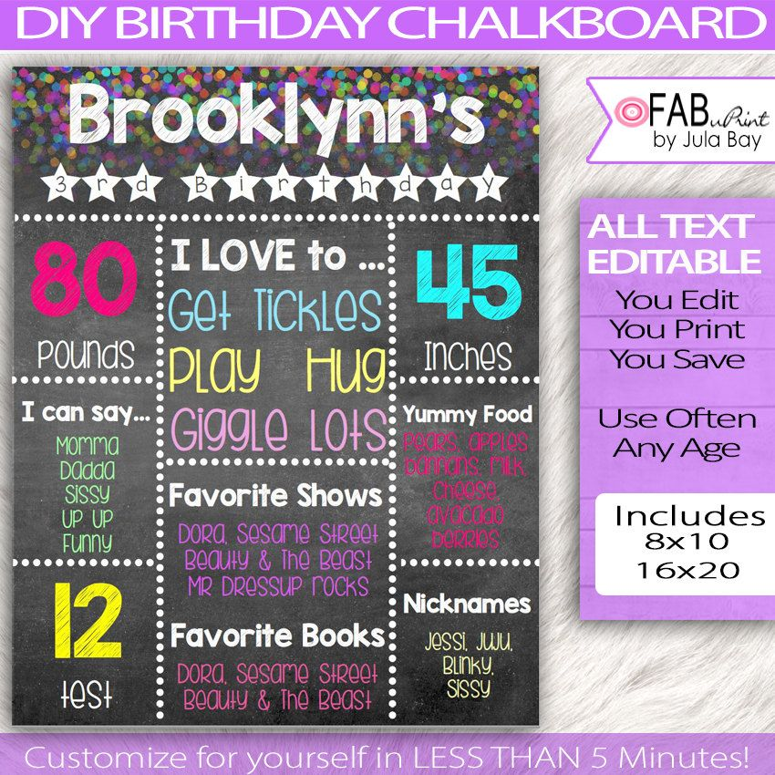 editable birthday chalkboard sign diy chalkboard sign milestone