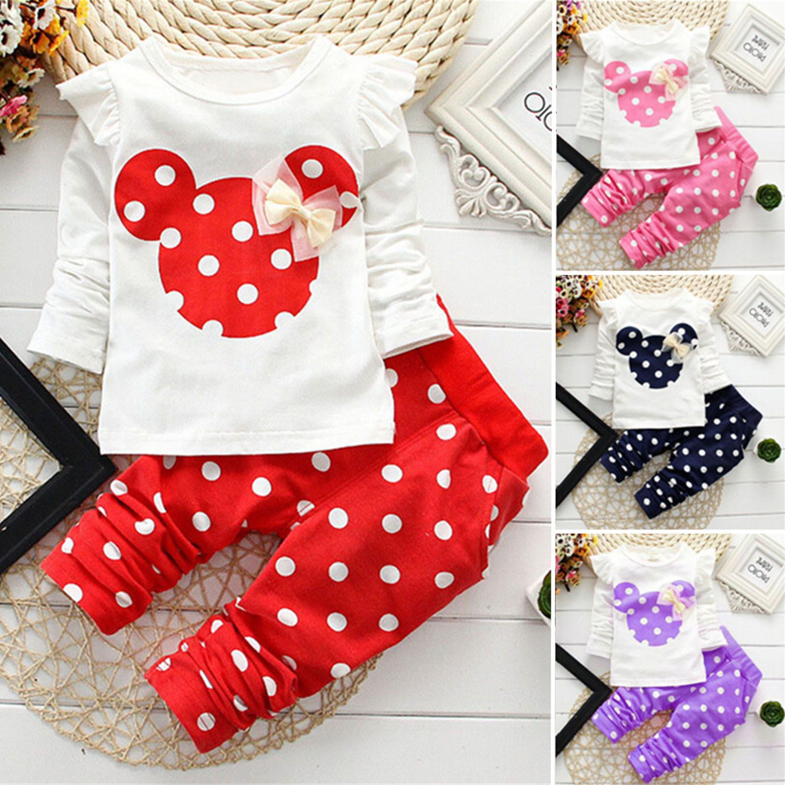 UK Newborn Baby Girls 1st Birthday Clothes Tops T Shirt Leggings Pants Outfits