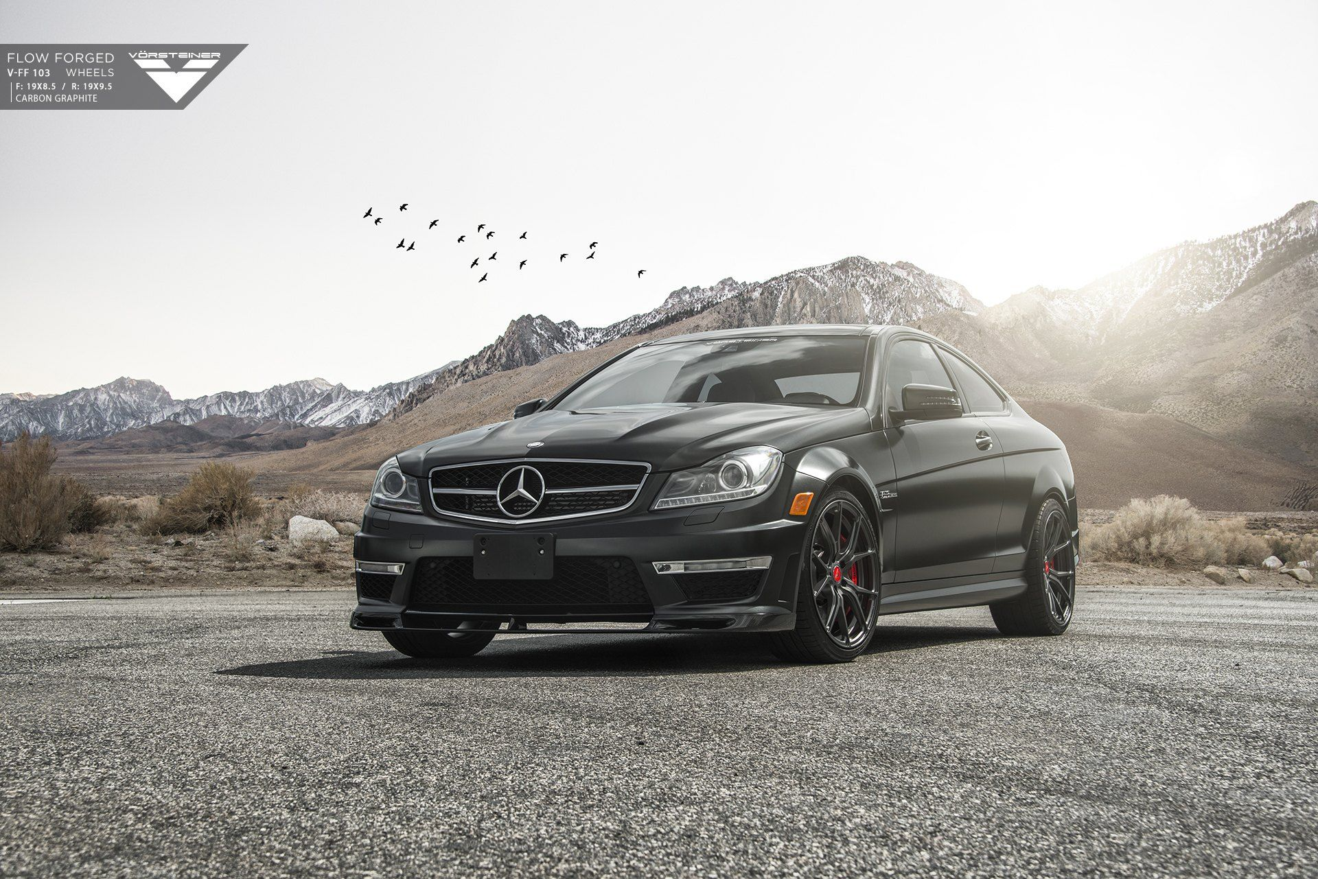 Spruced Up Black Mercedes C Class Car Pinterest
