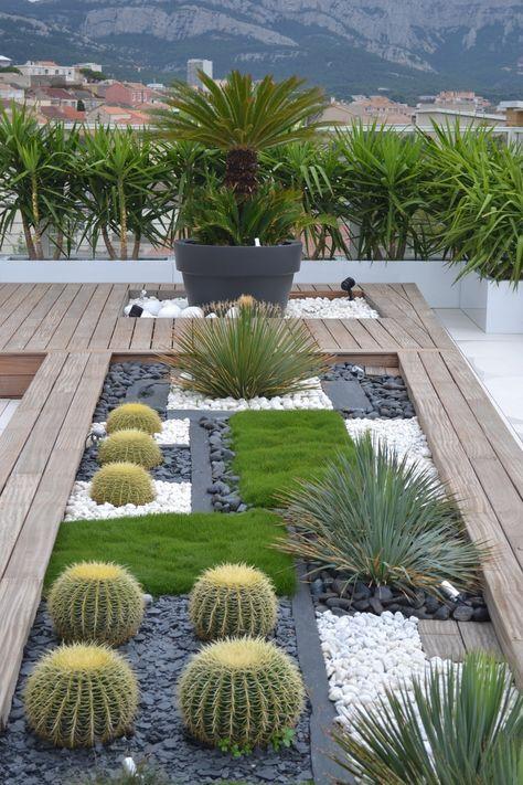 terrasse contemporaine marseille cration dune jardinire compose de vgtaux rsistants la - Jardiniere Exterieure Contemporaine