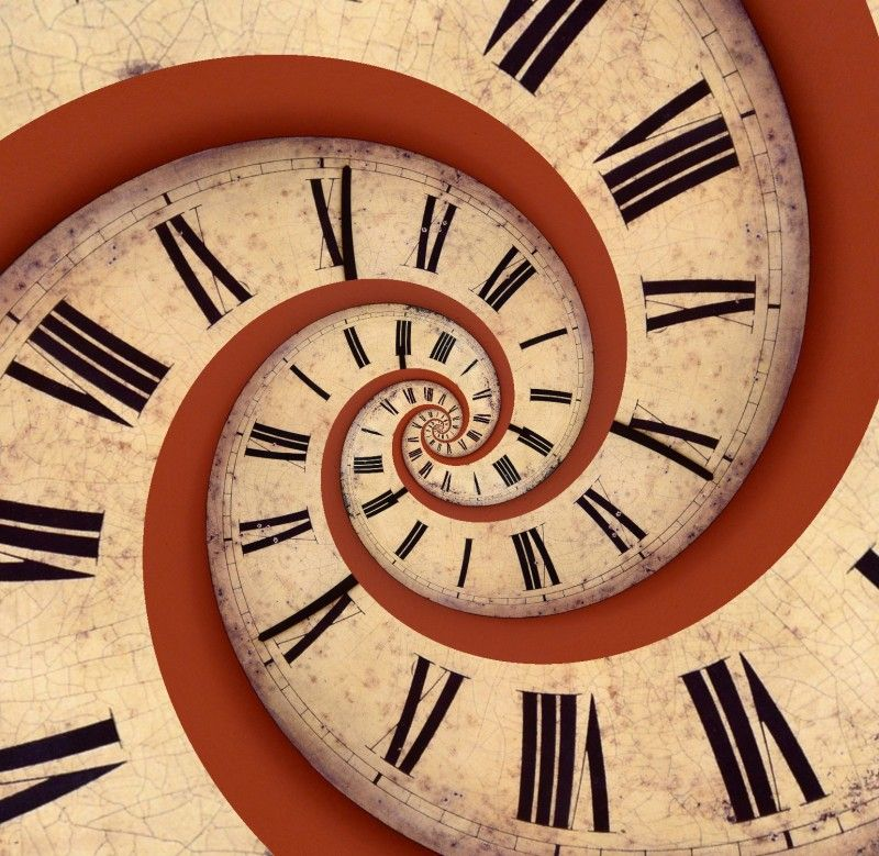 Image result for clock spiral