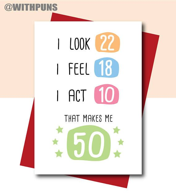 50th Birthday Card Funny Gift Cards Sister