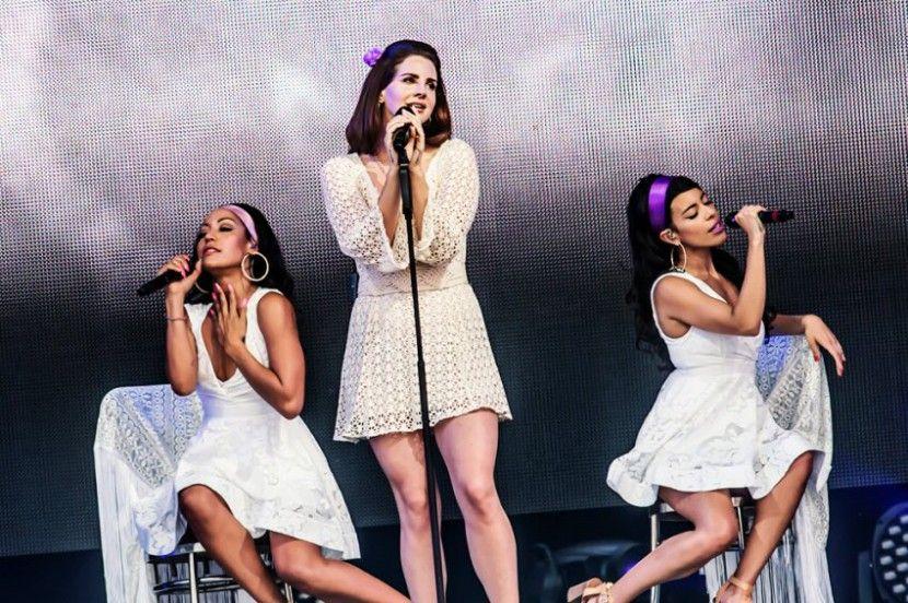 Lana Del Rey performing at TW Classic in Werchter, Belgium