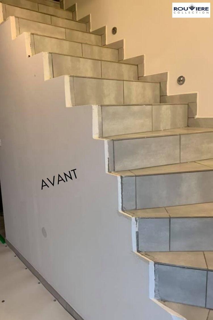 Modernisez Vos Escaliers Avec Un Revetement Enduit Beton Cire Escalier Beton Cire Escalier Relooking Escalier Carrelage
