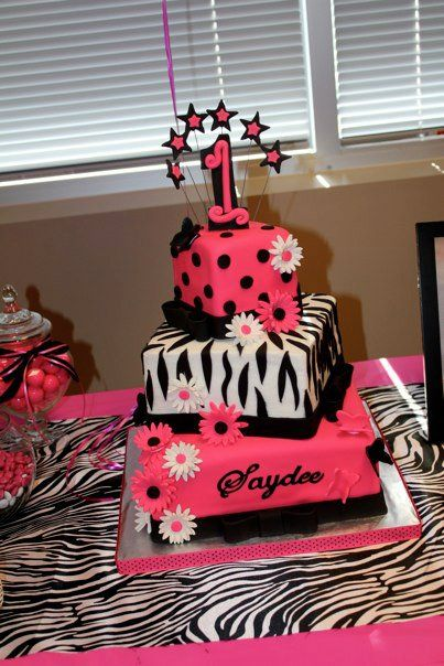 1st birthday zebra theme for girls Leopard Print Pink 1st First