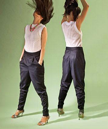 yo elijo coser: Patrón gratis: pantalón bombacho con talle alto