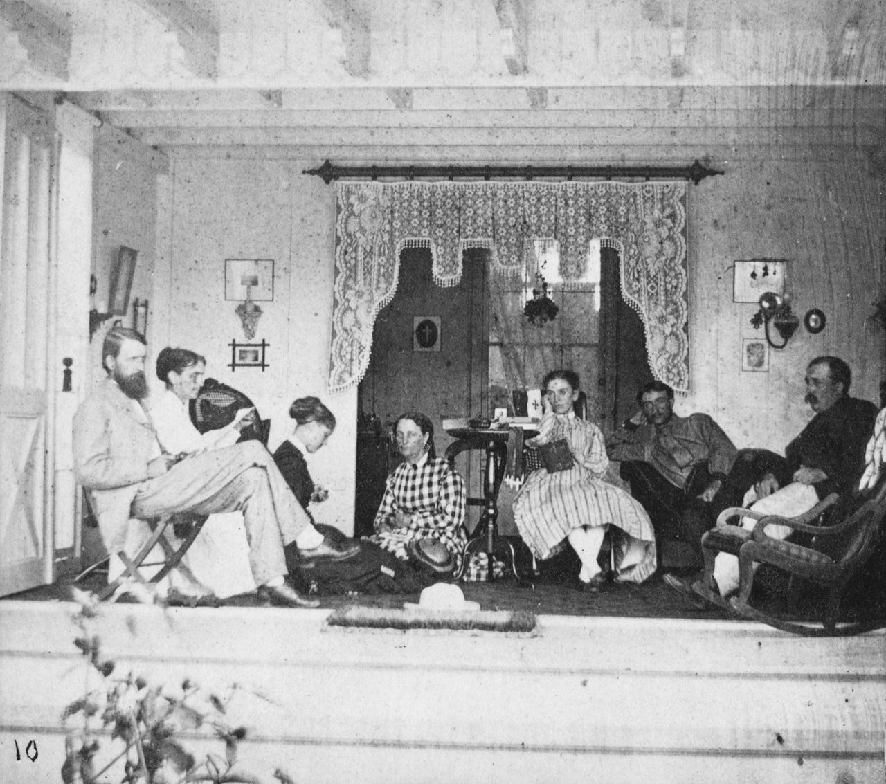 Stereoview Portrait Of A Group Posing In The Interior Of A