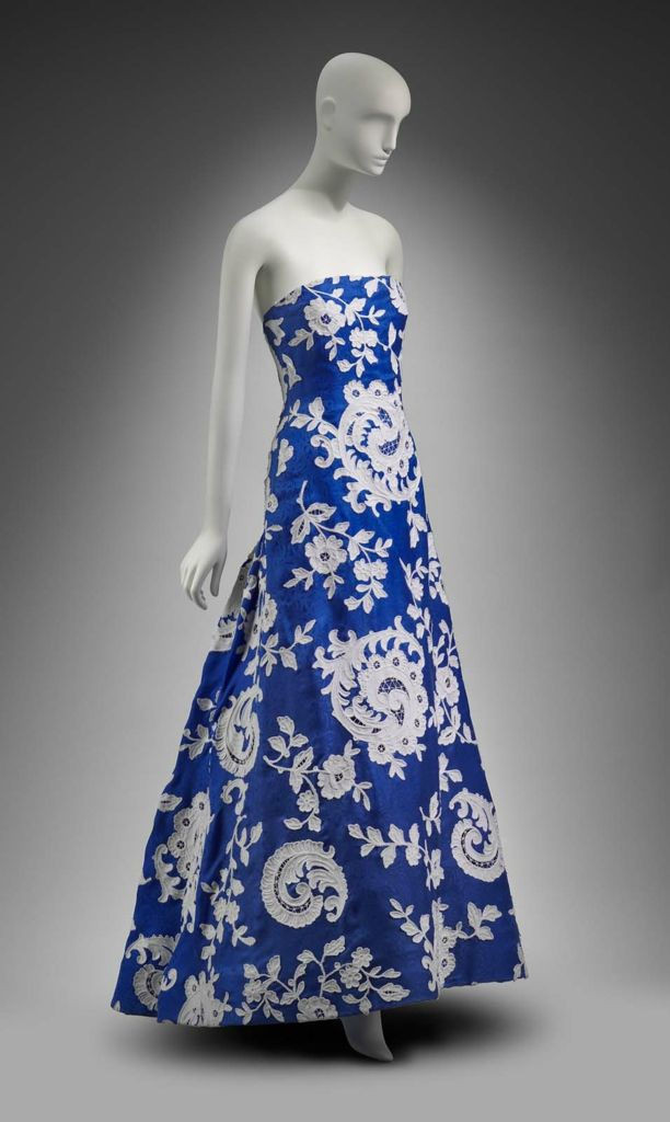 Spring 1986 America Womans Evening Dress By Arnold Scaasi Silk