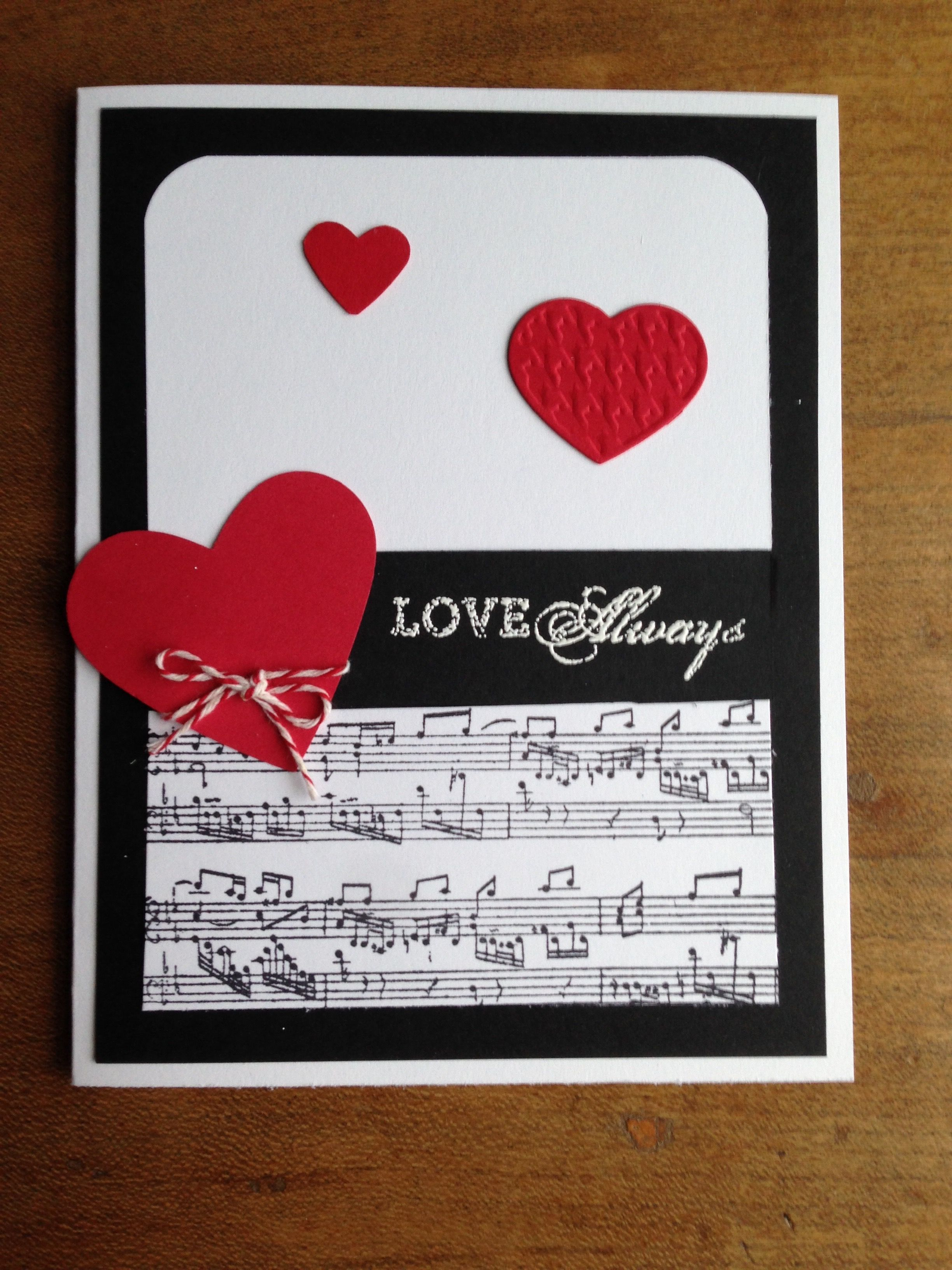 Used Michael S Black And White Cardstock Hearts Are Made With