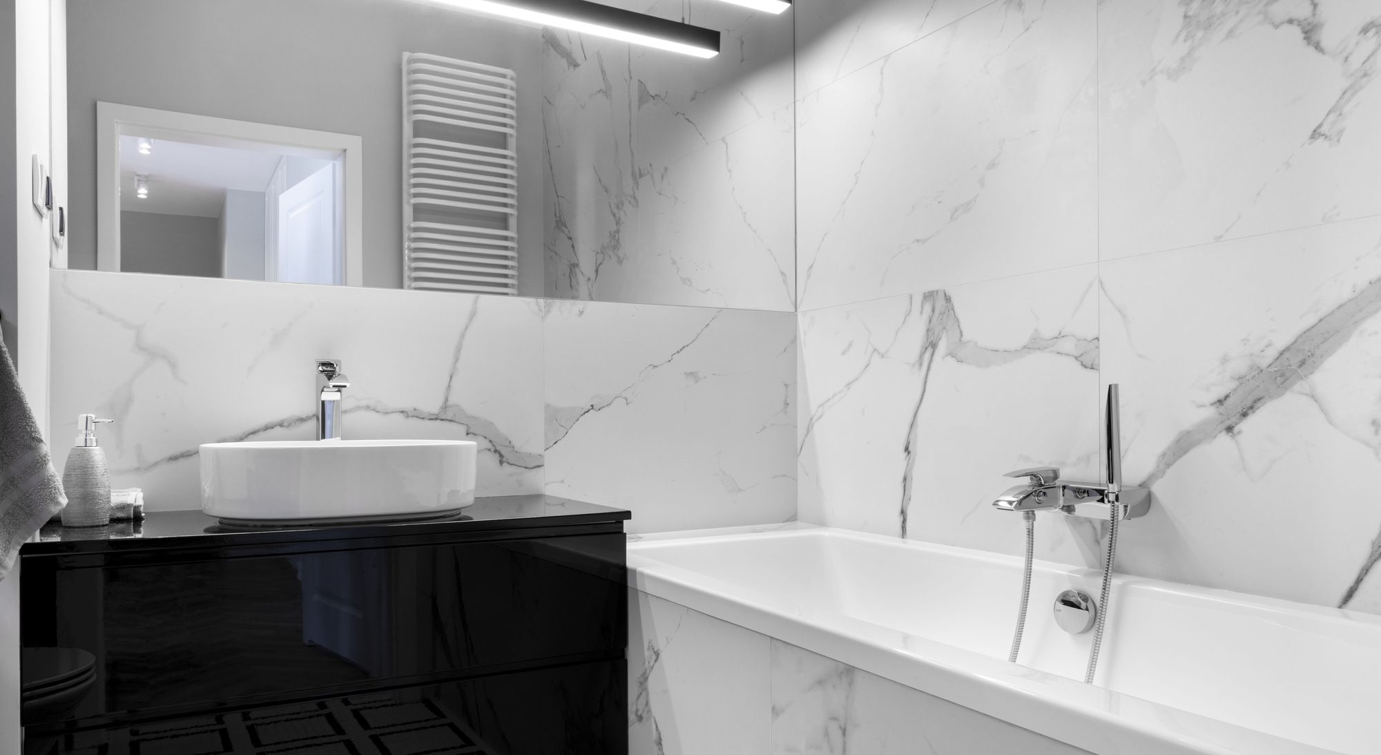 Clean, refreshing, and contemporary bathroom featuring our