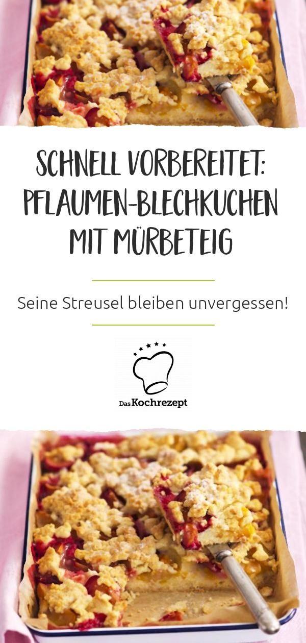 Photo of Blechkuchen mit Mürbeteig