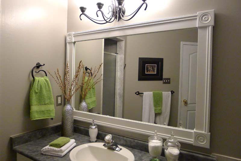 Diy Bathroom Mirror Frame Ideas Bathroom Mirror Frame Ideas