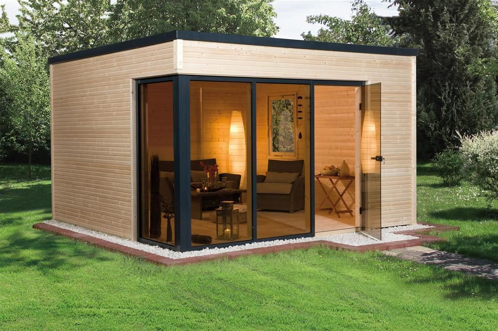 Weka Design Gartenhaus Cubilis natur 386x306cm eBay