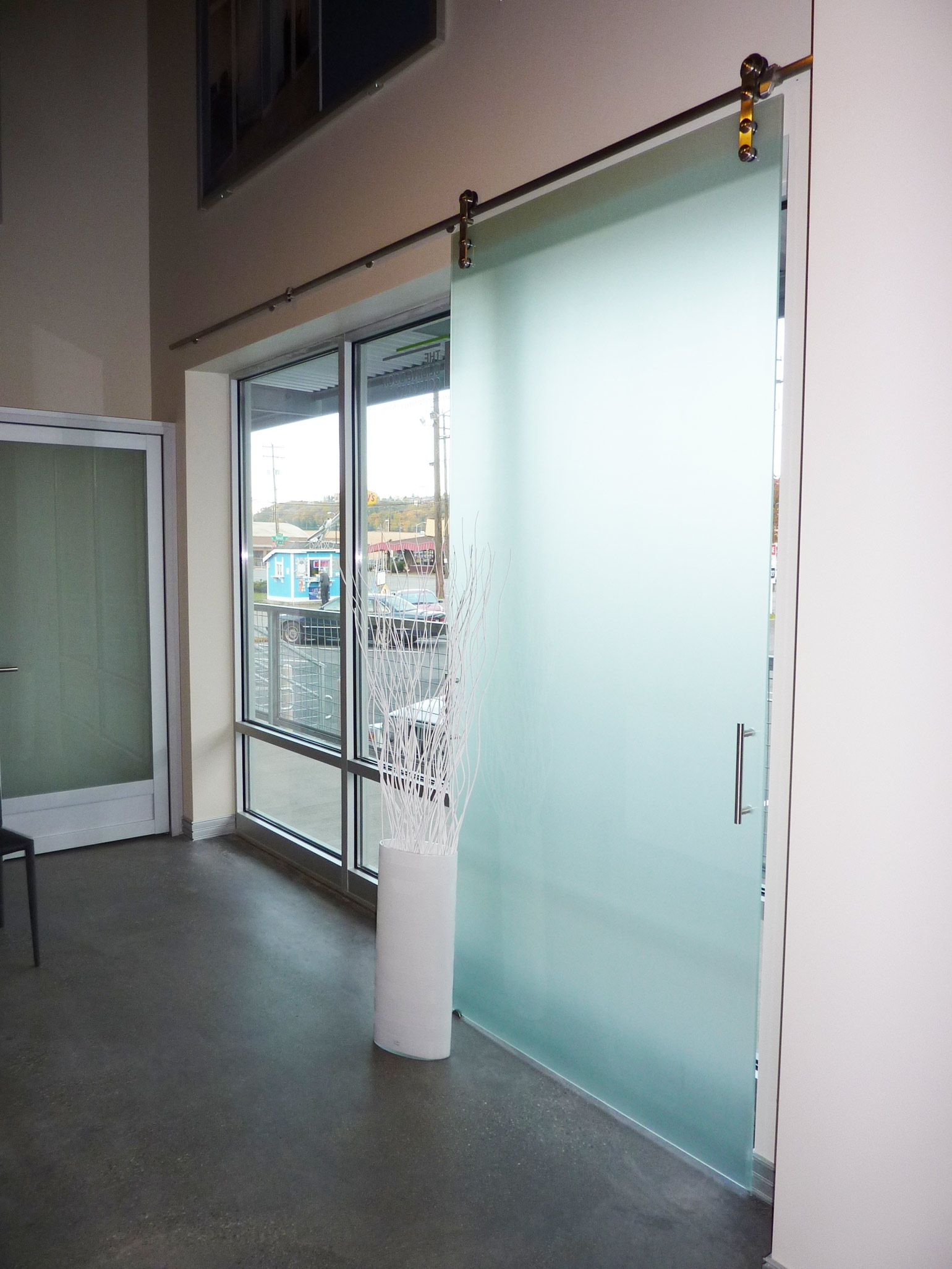 Glass office doors manufacturers - Top Hung Glass Barn Doors Are A Beautiful Addition To Any Home Or Office