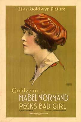 Theatrical poster for the 1918 silent film Peck's Bad Girl starring Mabel Normand.