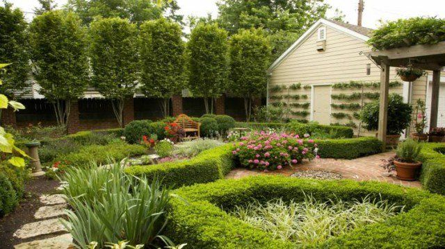 Parterre de fleurs - 21 idées magnifiques pour le jardin - maison en bois et en pierre