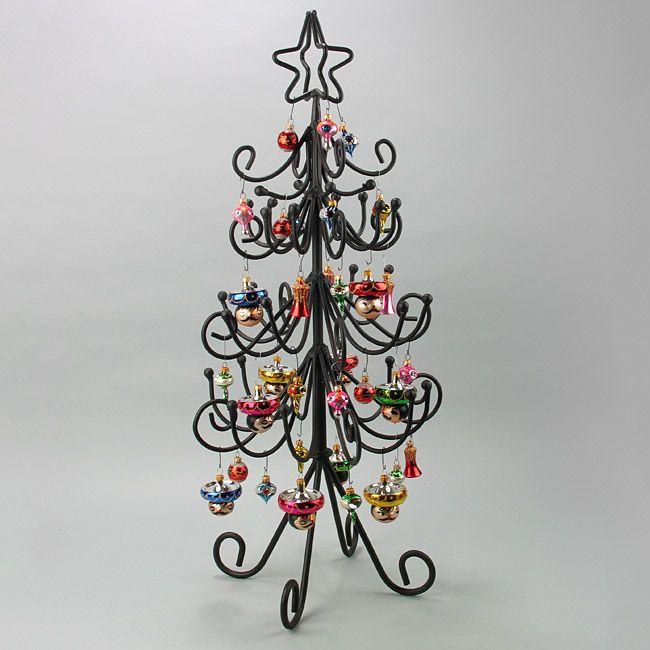 Iron Christmas Tree Display Stands Mini And Small Metal Christmas Tree Vintage Ornaments Wrought Iron Christmas Tree