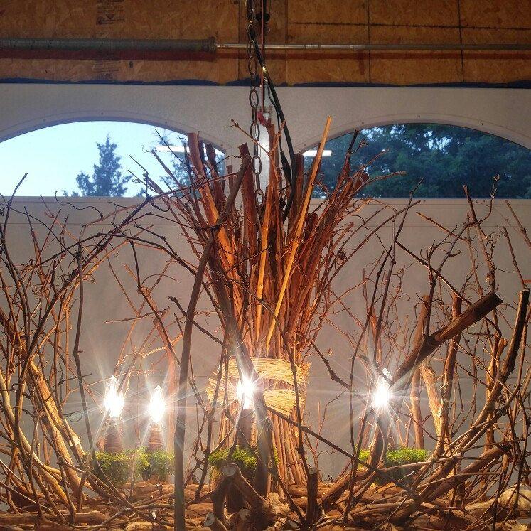 Rustic Handmade Light Fixture Twig Chandelier Branch: Rustic Outdoor Chandelier