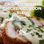 Pollo crujiente y cremoso Cordon Bleu
