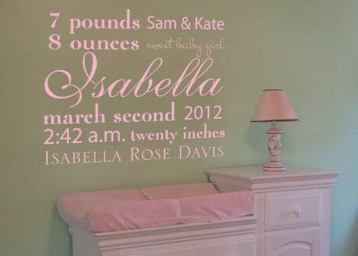 Another great way to welcome home that precious baby! Love this for a nursery! & Another great way to welcome home that precious baby! Love this for ...