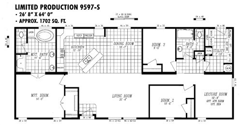 Metal 40x60 Homes Floor Plans