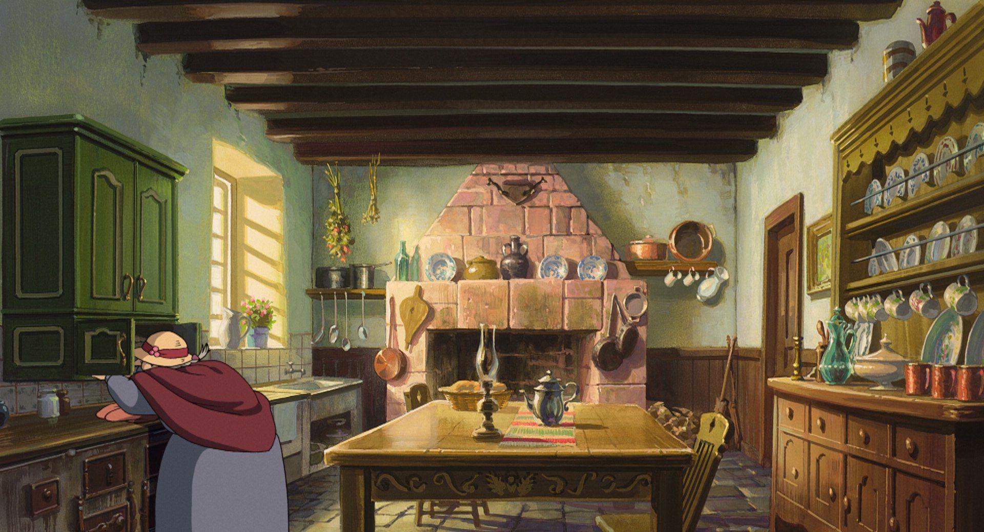 Howl's Moving Castle - Kitchen | Fondo animación, El ...
