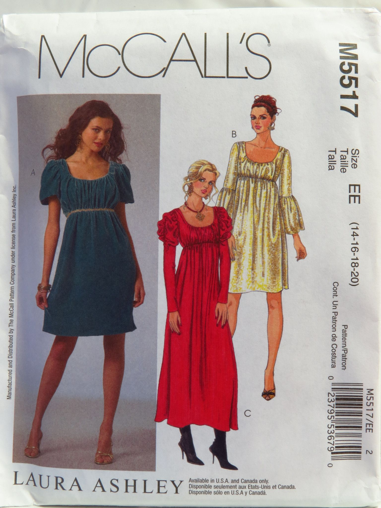 McCall\'s 5517 Misses\' Dresses in Two Lengths