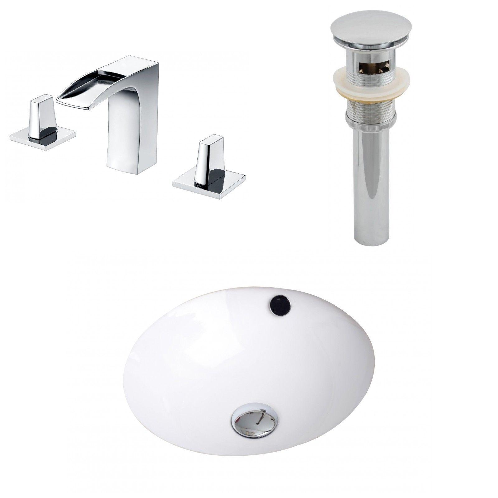 American Standard Ovalyn Oval Undermount Bathroom Sink With Overflow  Bathroom Undermount Bathroom Sink And American Standard
