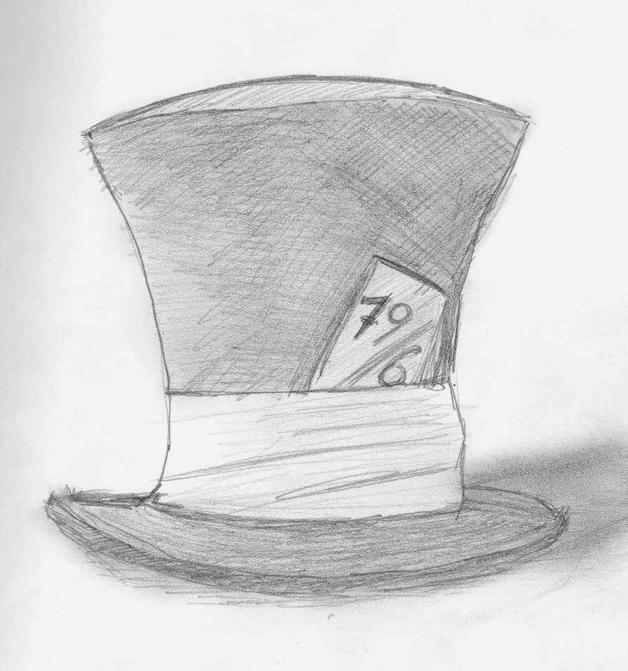 Mad Hatter S Top Hat Coloring Pages Mad Hatter Hat By