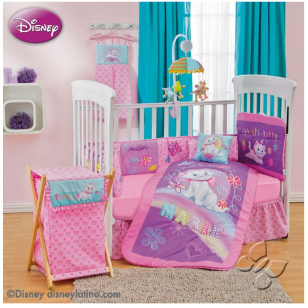 Disney Aristocats Marie Bedroom Decor 9pc Crib Bedding Nursery Set