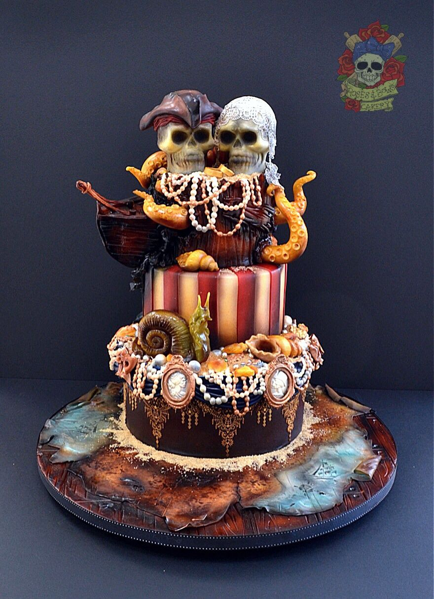 elegant pirate wedding cake pirate wedding cake search pirate treasure 13962