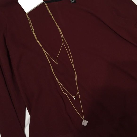H&M statement necklace NEW WITH TAG h&m statement necklace. never worn H&M Jewelry Necklaces