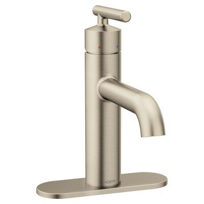 Moen Gibson Standard Single Hole Bathroom Faucet With Drain