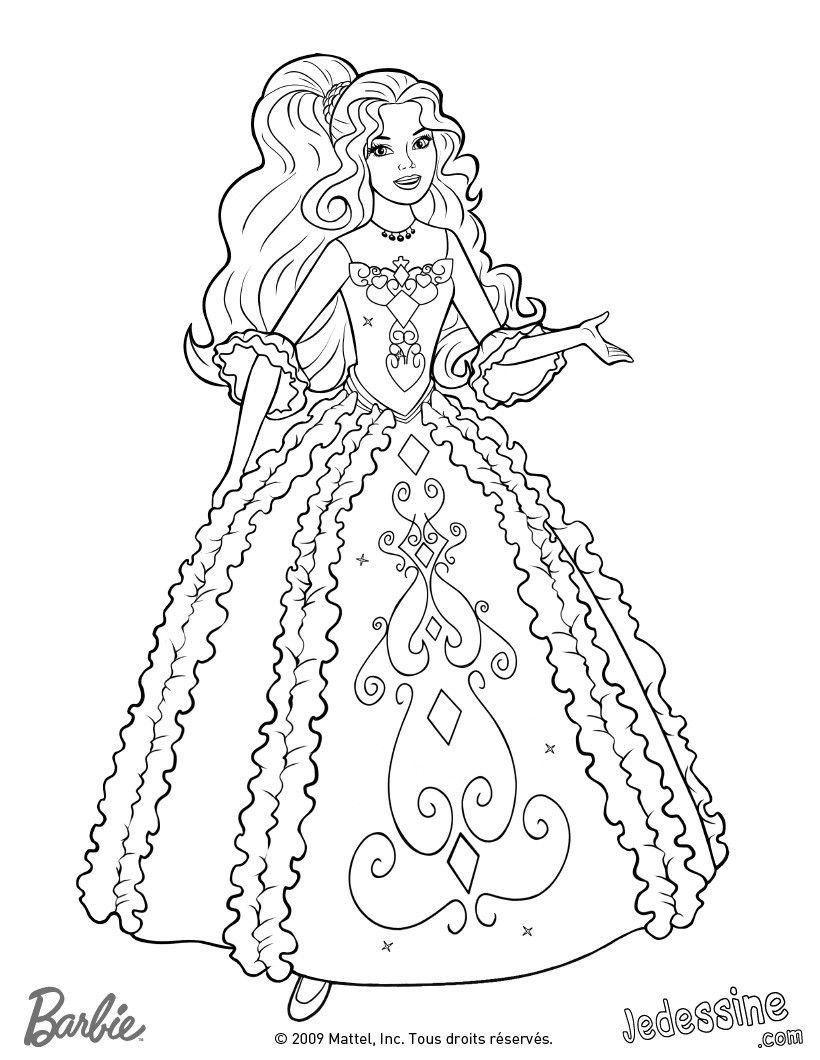 Coloriage Barbie Coloriage de Renée dans sa belle robe Tu as trouvé le Coloriages Barbie et les 3 Mousquetaires que tu cherchais mais tu n as pas de