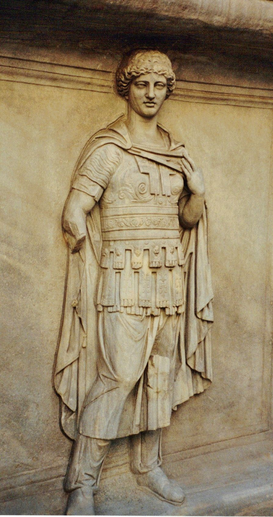 Relief from Temple of Trajan, 2nd Century, Courtyard of Palazzo dei Conservatori, Rome