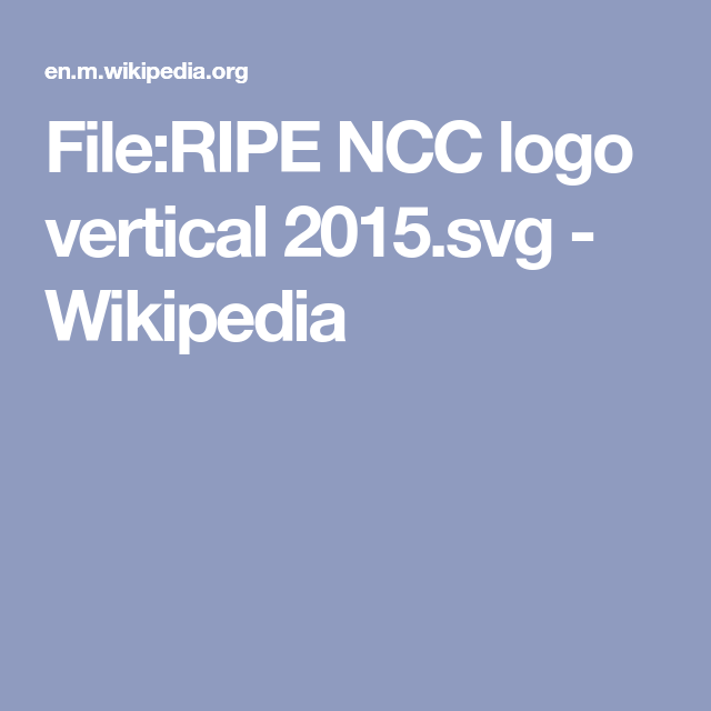 File Ripe Ncc Logo Vertical 2015 Svg Wikipedia Vertical Svg Logos